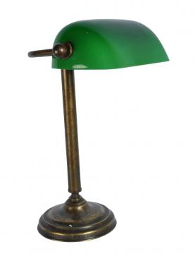 Engelsk Banklampa - Antik